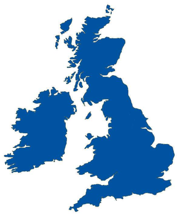 A Blue Illustration of the United Kingdom