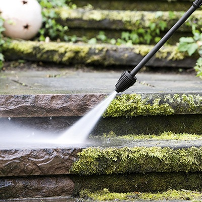 pressure washers - mossy paving